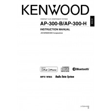 Kenwood AP-300-B Compact Hifi System with Bluetooth receiver, CD, Radio USB Host function