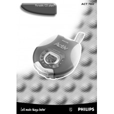 Philips ACT7583 Portable CD Player